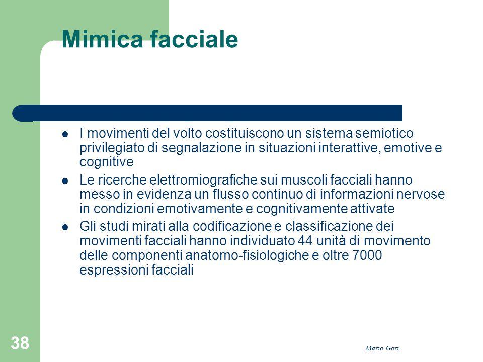 Mimica facciale I movimenti del volto costituiscono un sistema semiotico privilegiato di segnalazione in situazioni interattive, emotive e cognitive.