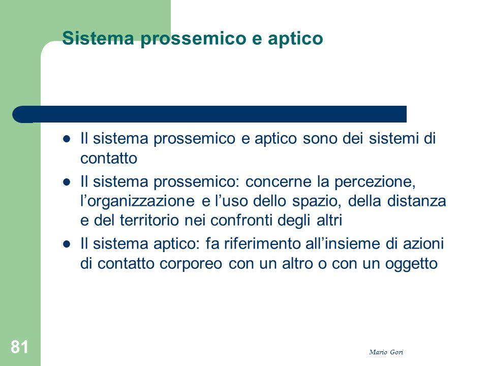 Sistema prossemico e aptico