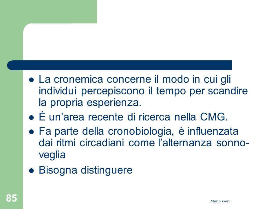 È un'area recente di ricerca nella CMG.