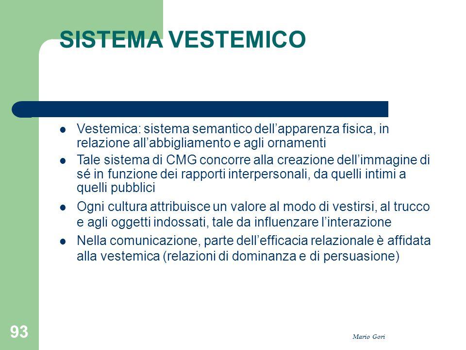 SISTEMA VESTEMICO Vestemica: sistema semantico dell'apparenza fisica, in relazione all'abbigliamento e agli ornamenti.