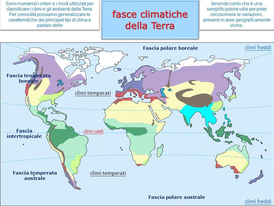 fasce climatiche della Terra