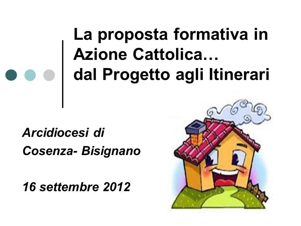 La proposta formativa in Azione Cattolica… dal Progetto agli Itinerari