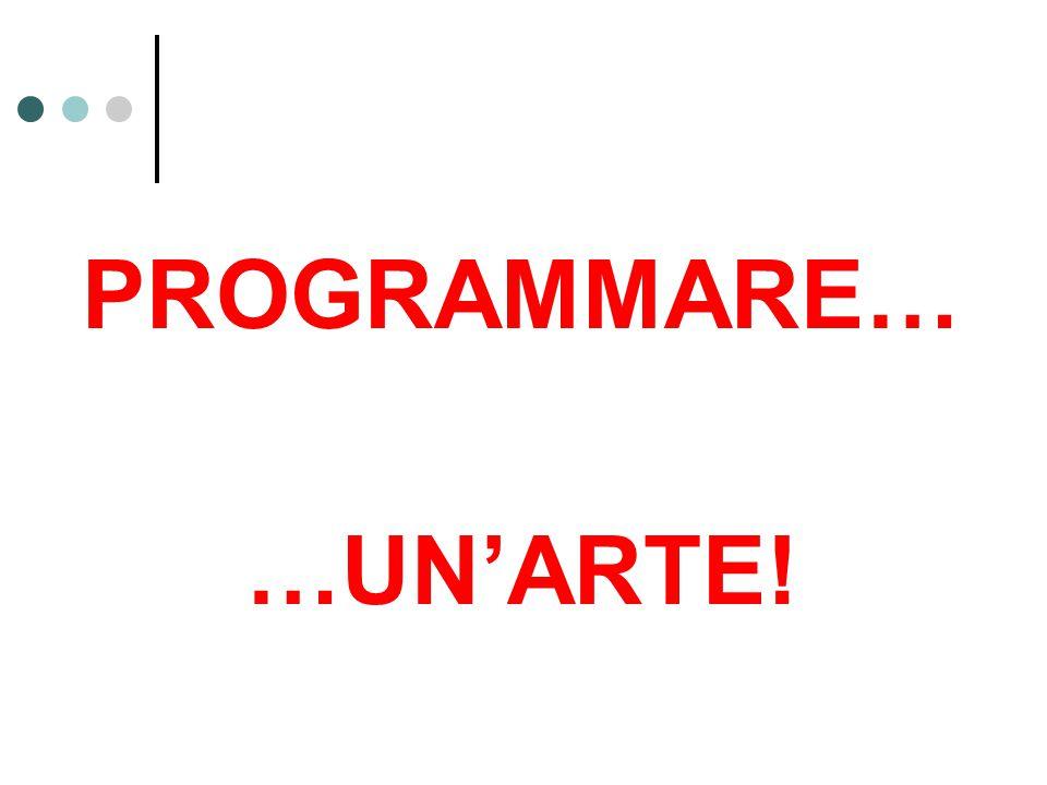 PROGRAMMARE… …UN'ARTE!