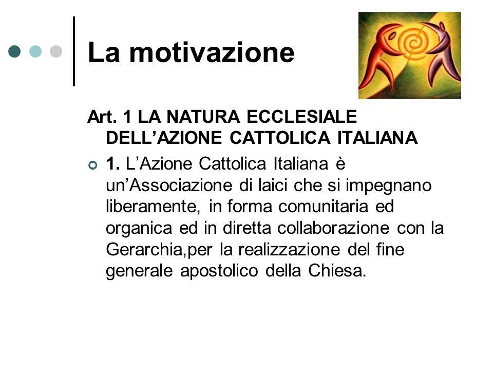 La motivazione Art. 1 LA NATURA ECCLESIALE DELL'AZIONE CATTOLICA ITALIANA.