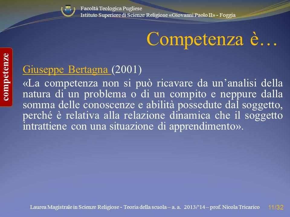 Competenza è… Giuseppe Bertagna (2001)