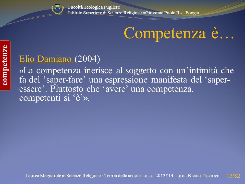Competenza è… Elio Damiano (2004)
