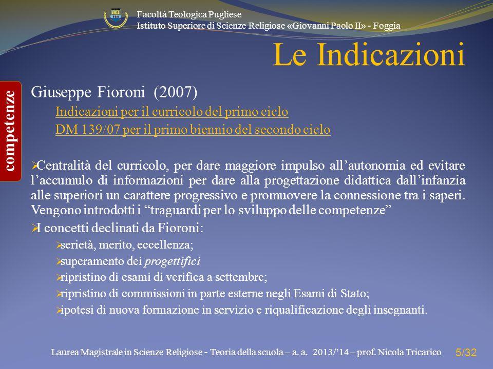 Le Indicazioni Giuseppe Fioroni (2007)