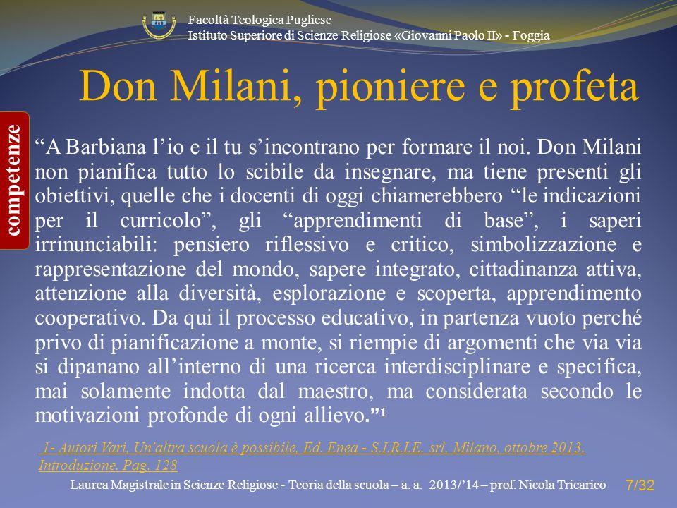 Don Milani, pioniere e profeta