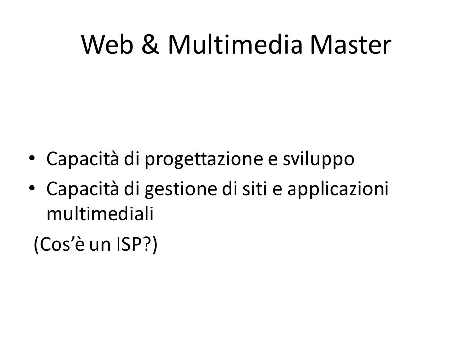 Web & Multimedia Master