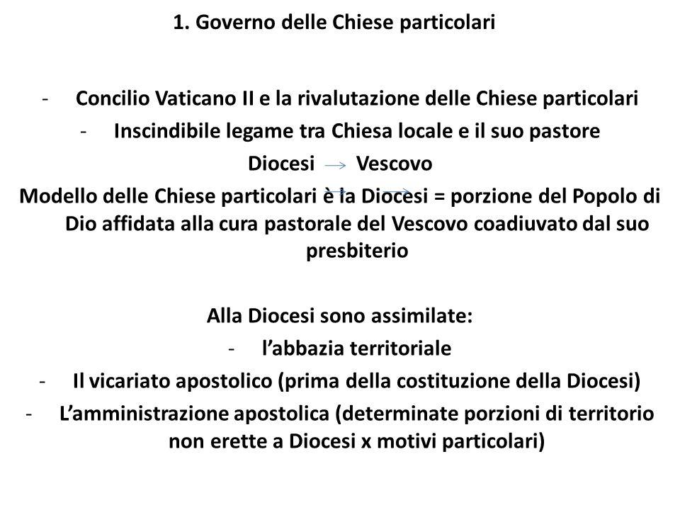 1. Governo delle Chiese particolari