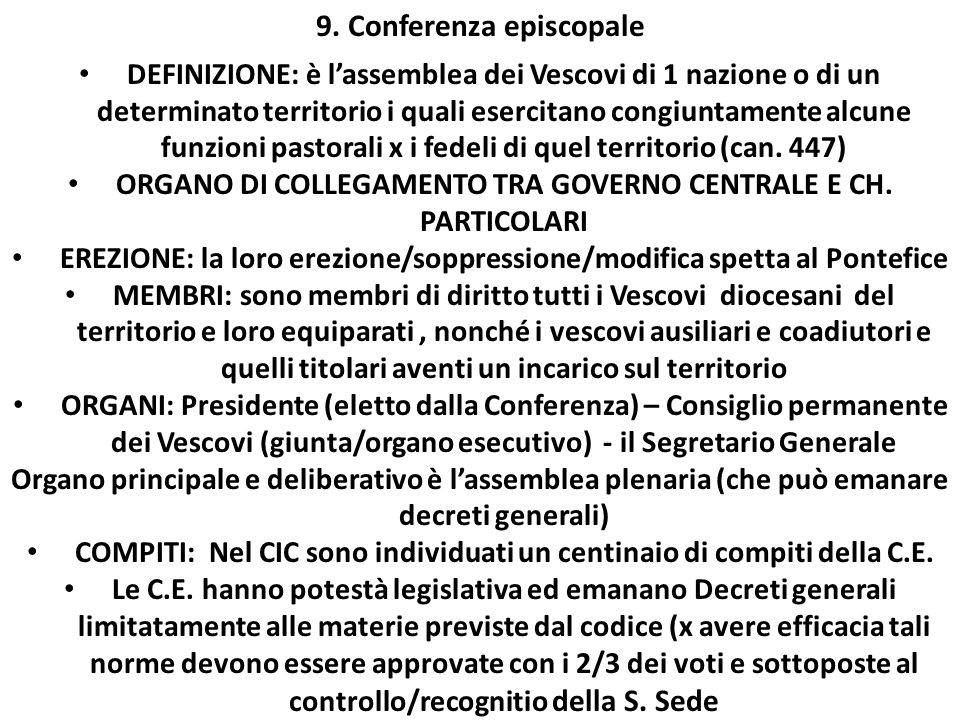 9. Conferenza episcopale