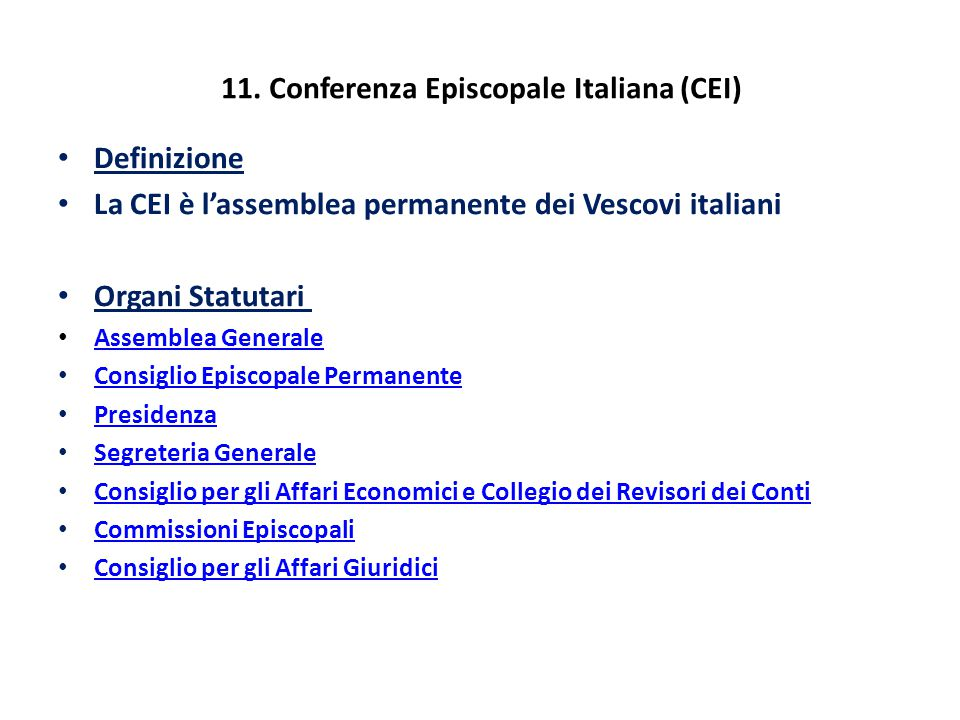 11. Conferenza Episcopale Italiana (CEI)