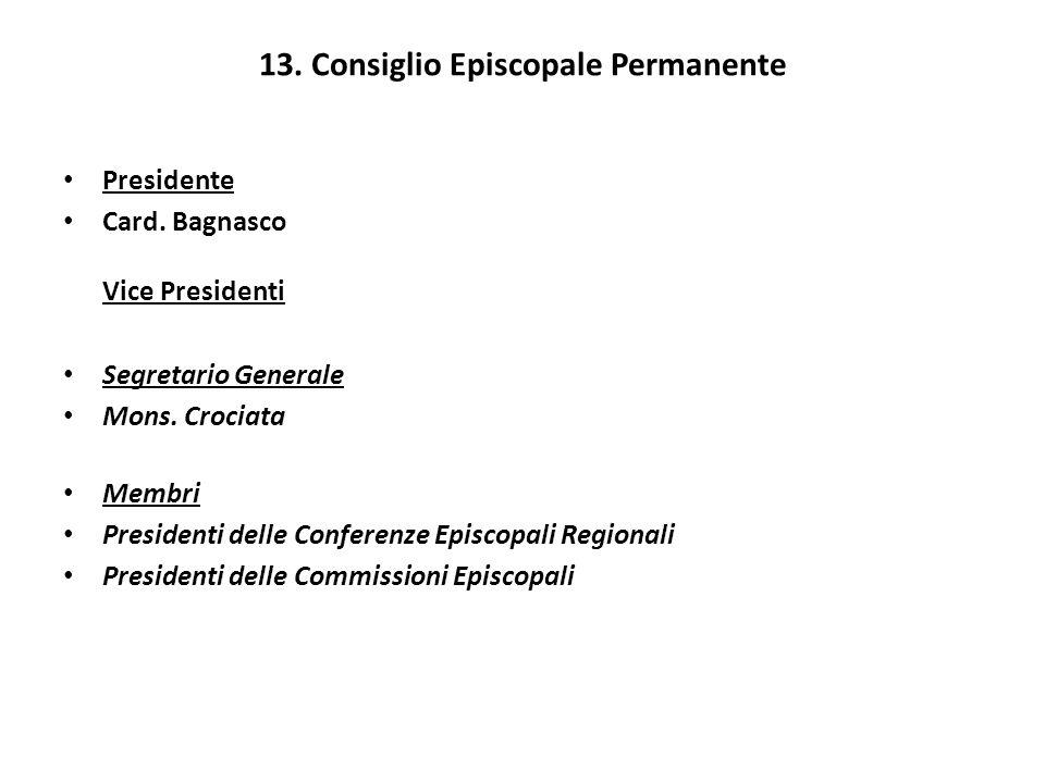 13. Consiglio Episcopale Permanente