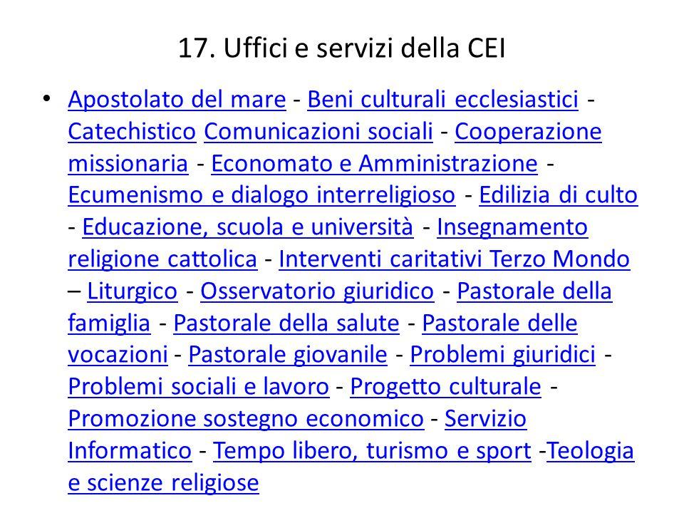 17. Uffici e servizi della CEI