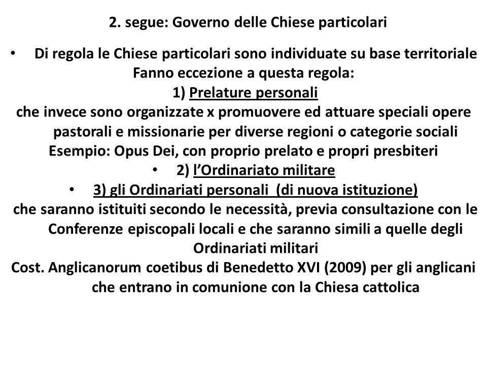 2. segue: Governo delle Chiese particolari