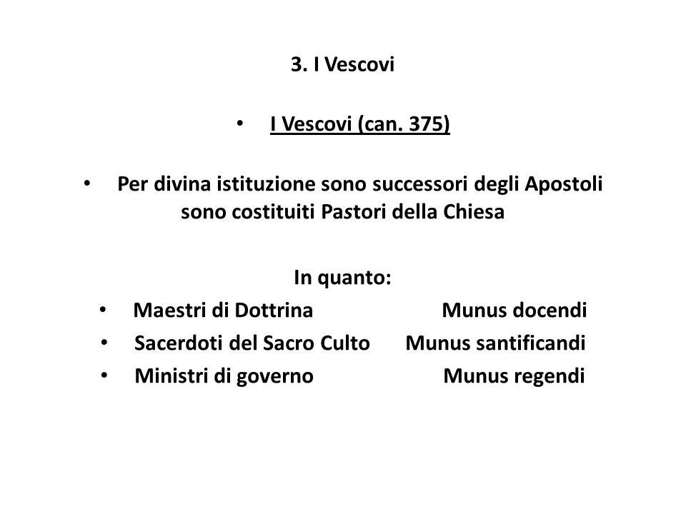 Per divina istituzione sono successori degli Apostoli