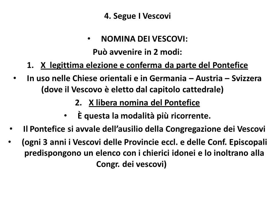 X legittima elezione e conferma da parte del Pontefice