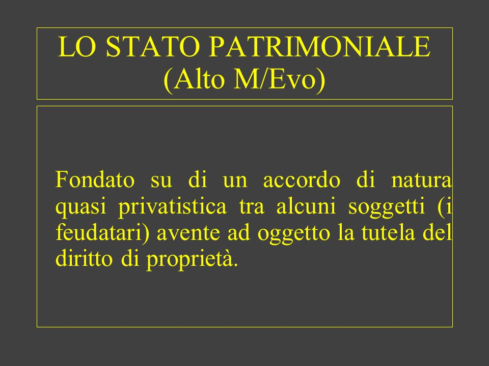 LO STATO PATRIMONIALE (Alto M/Evo)
