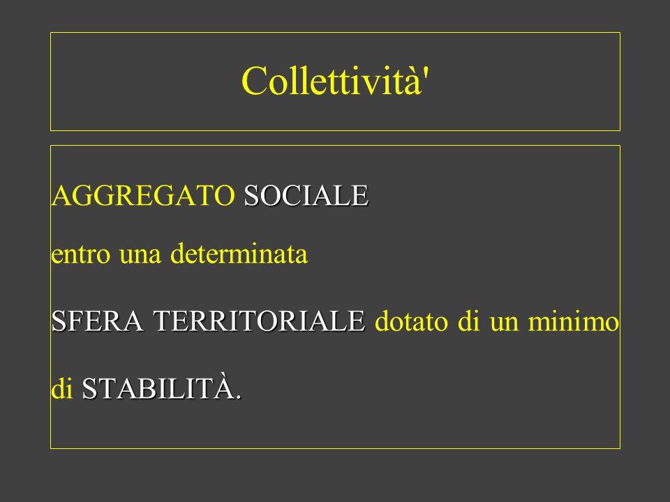 Collettività AGGREGATO SOCIALE entro una determinata