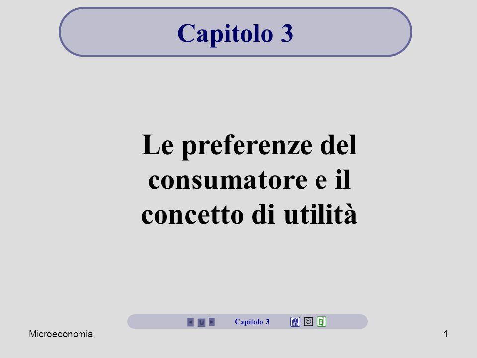 Le preferenze del consumatore e il concetto di utilità