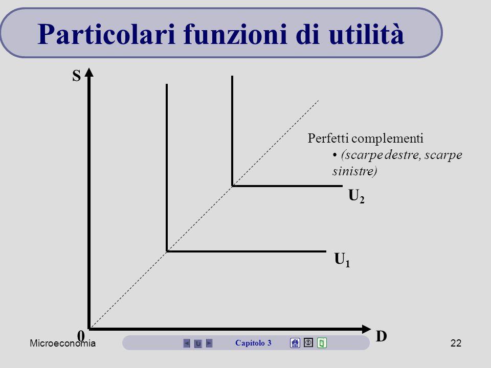 Particolari funzioni di utilità