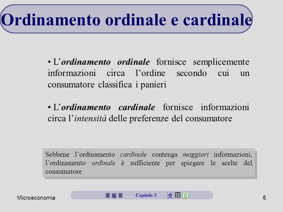 Ordinamento ordinale e cardinale