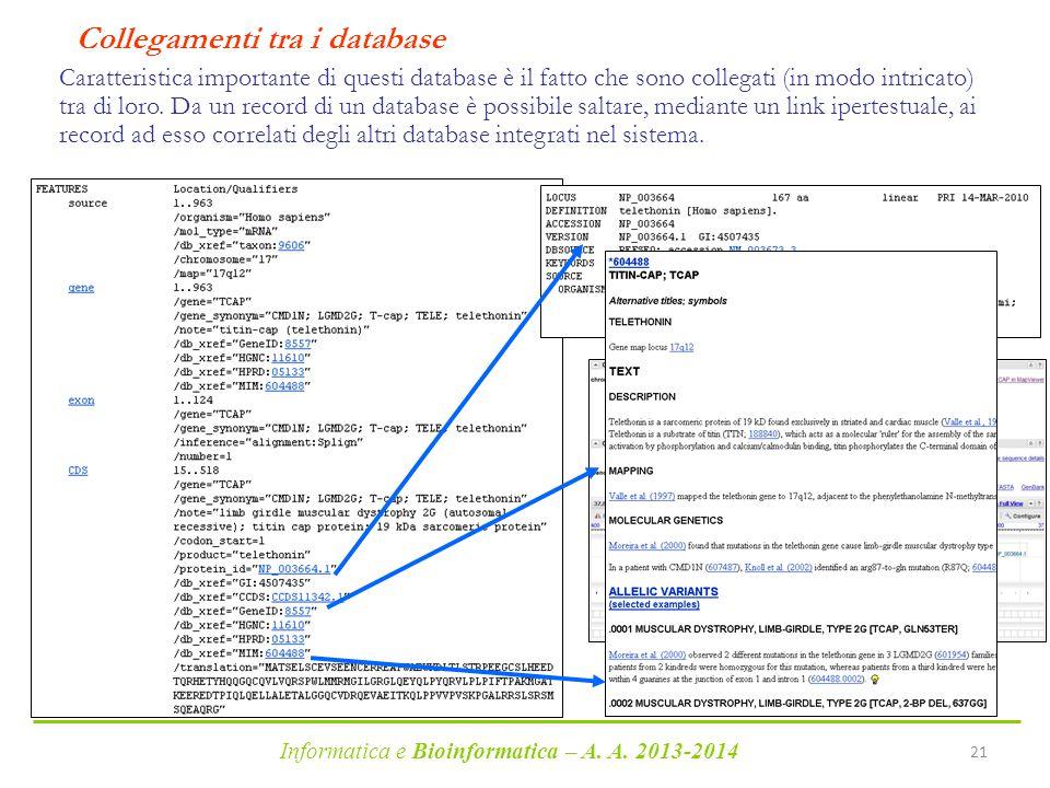 Collegamenti tra i database