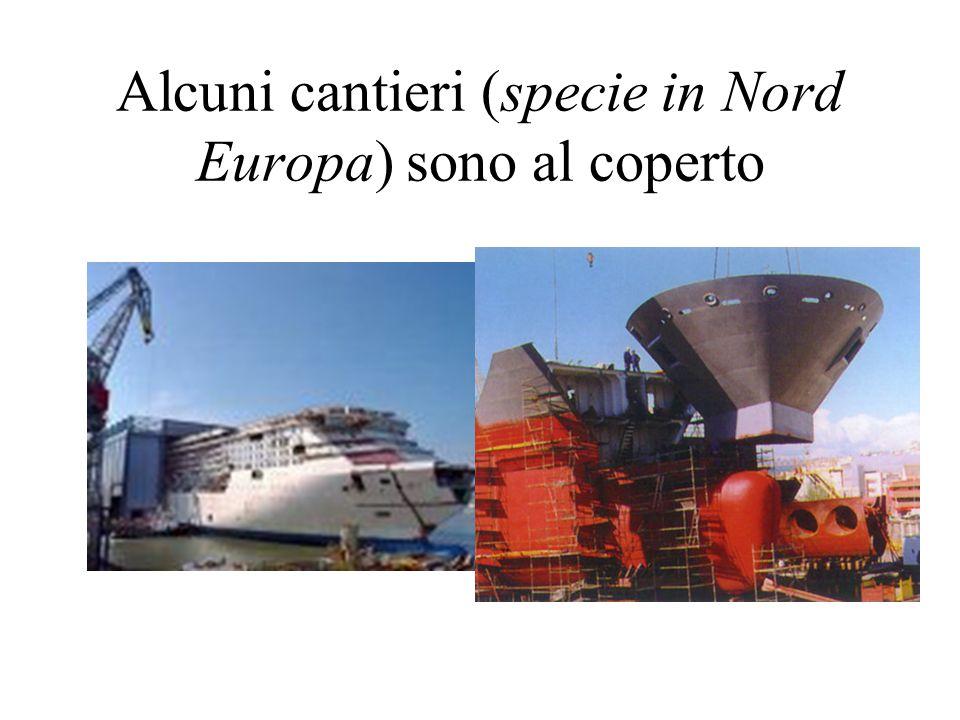 Alcuni cantieri (specie in Nord Europa) sono al coperto