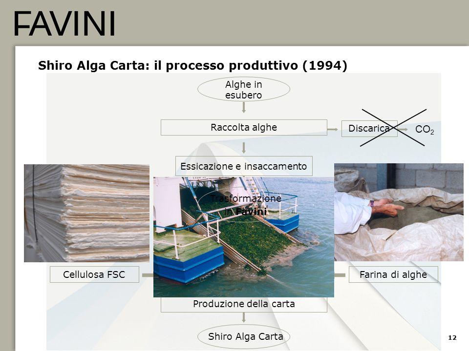 Shiro Alga Carta: il processo produttivo (1994)
