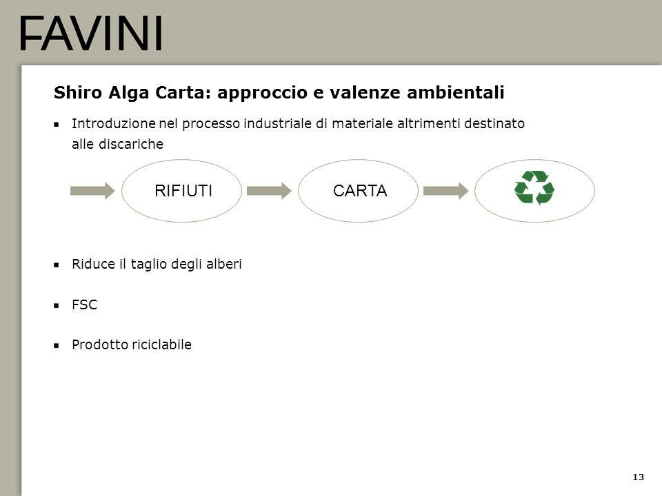 Shiro Alga Carta: approccio e valenze ambientali