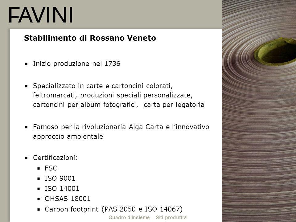 Stabilimento di Rossano Veneto