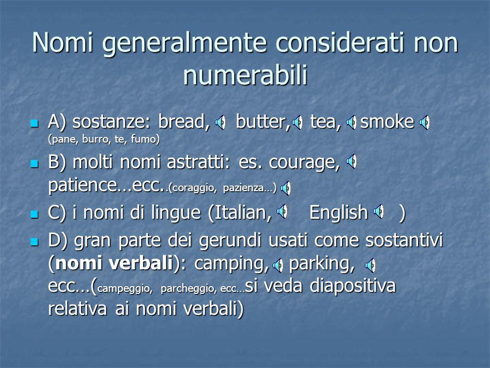 Nomi generalmente considerati non numerabili