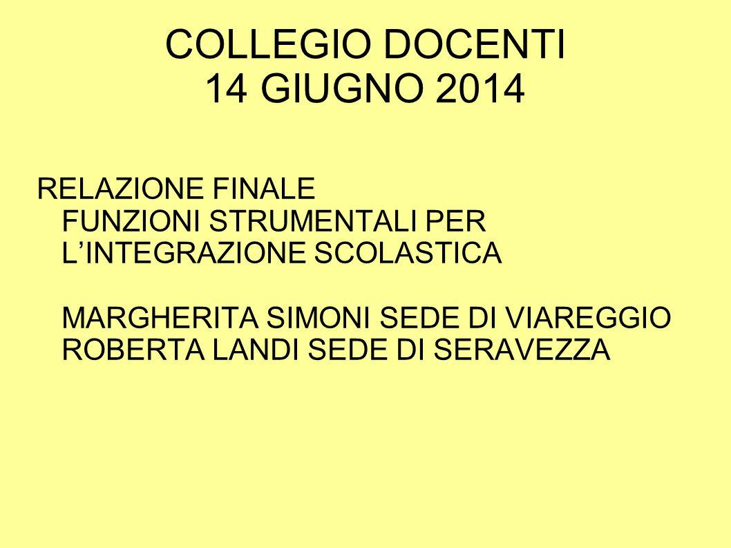 COLLEGIO DOCENTI 14 GIUGNO 2014