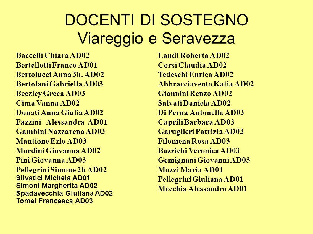 DOCENTI DI SOSTEGNO Viareggio e Seravezza