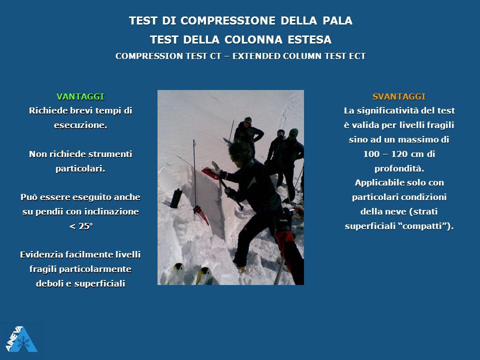 TEST DI COMPRESSIONE DELLA PALA TEST DELLA COLONNA ESTESA