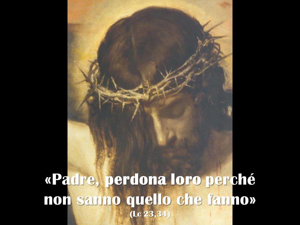 «Padre, perdona loro perché non sanno quello che fanno» (Lc 23,34)