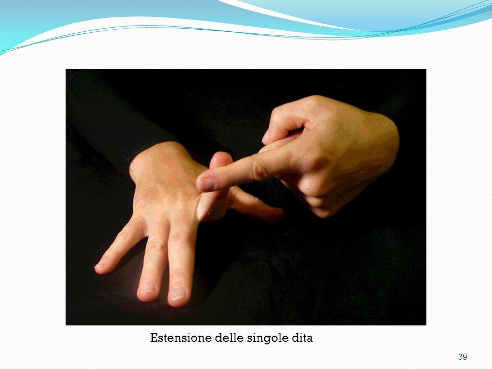 Estensione delle singole dita