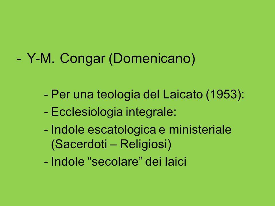 Y-M. Congar (Domenicano)