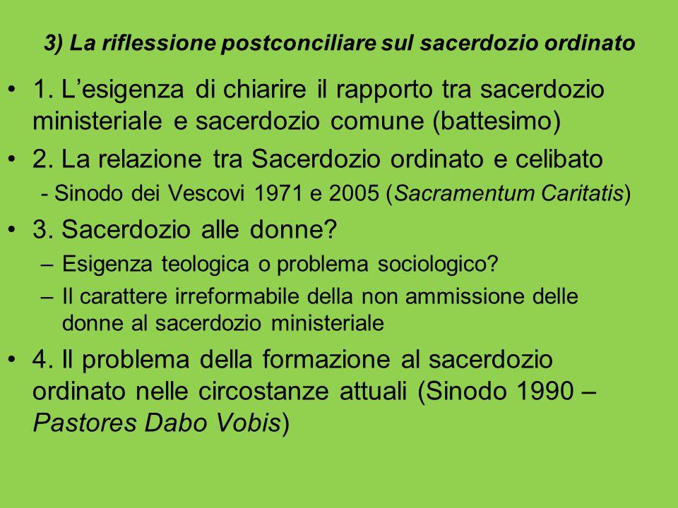 3) La riflessione postconciliare sul sacerdozio ordinato