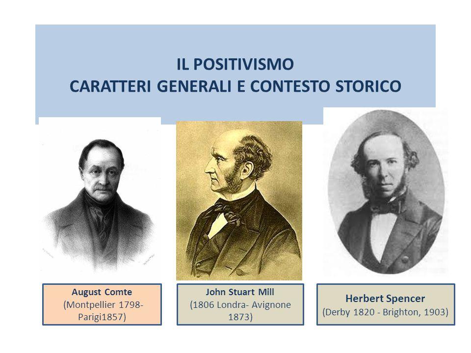 IL POSITIVISMO CARATTERI GENERALI E CONTESTO STORICO