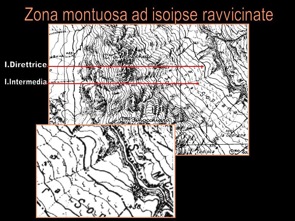 Zona montuosa ad isoipse ravvicinate
