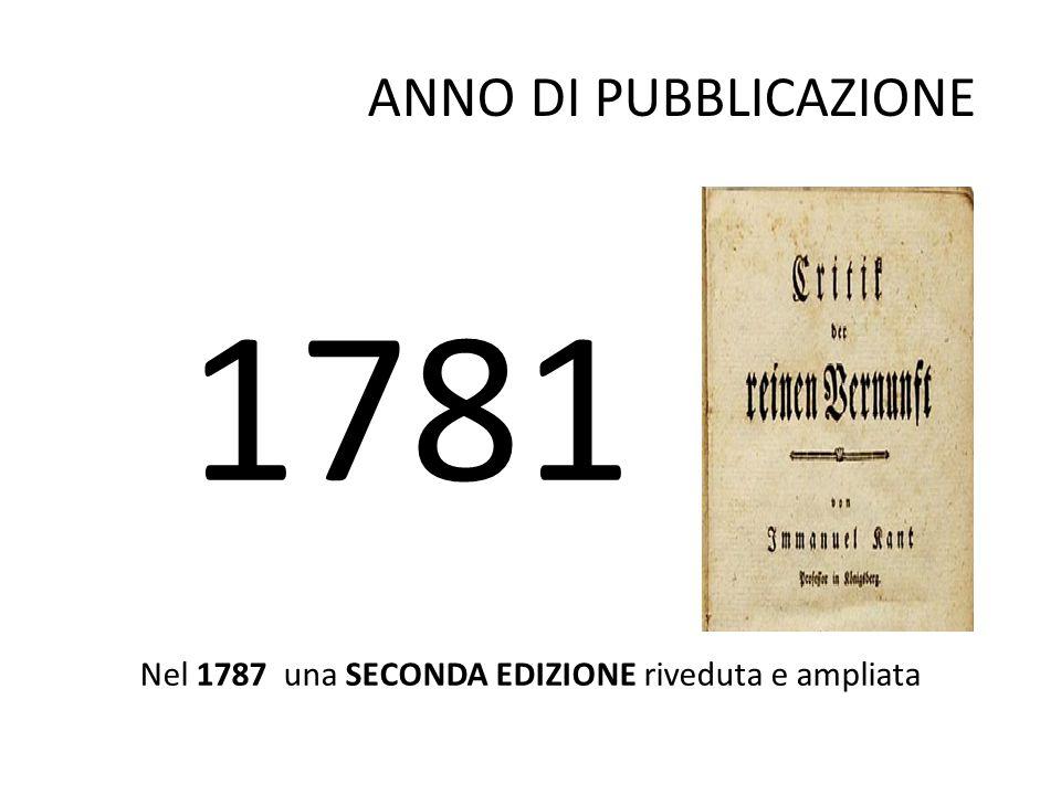 Nel 1787 una SECONDA EDIZIONE riveduta e ampliata