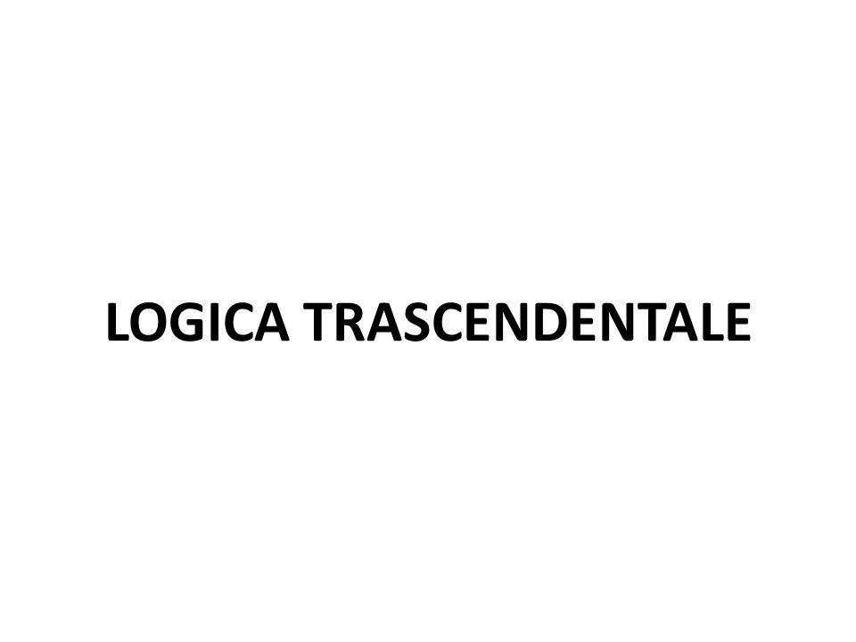 LOGICA TRASCENDENTALE