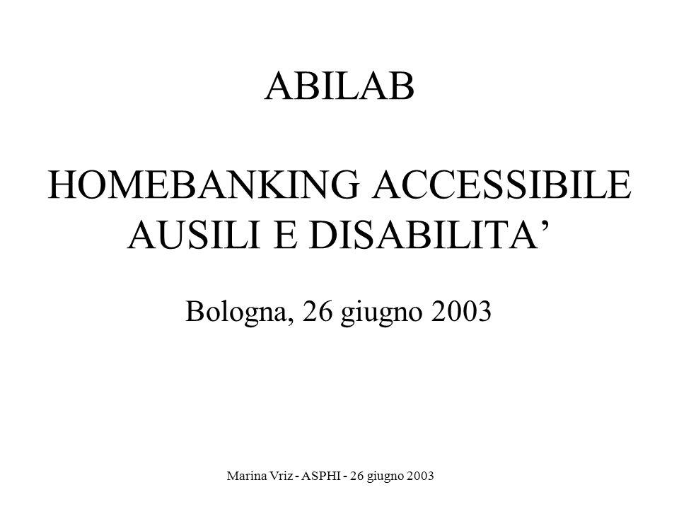 ABILAB HOMEBANKING ACCESSIBILE AUSILI E DISABILITA'
