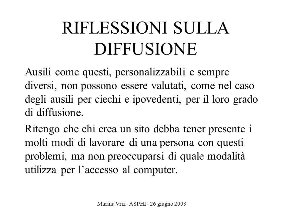 RIFLESSIONI SULLA DIFFUSIONE