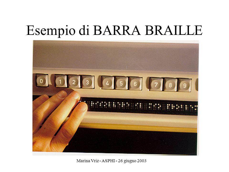 Esempio di BARRA BRAILLE