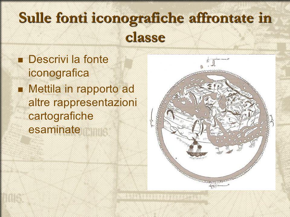 Sulle fonti iconografiche affrontate in classe