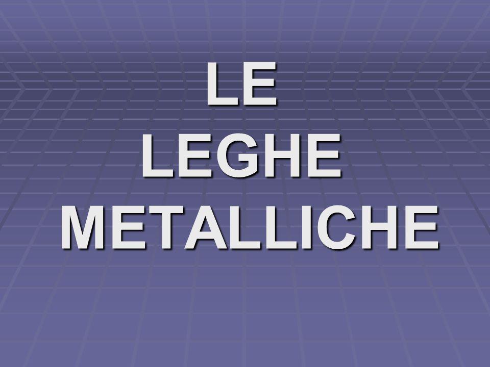 LE LEGHE METALLICHE