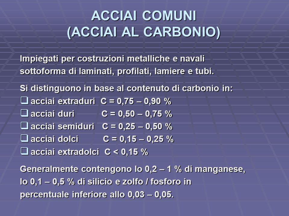 ACCIAI COMUNI (ACCIAI AL CARBONIO)
