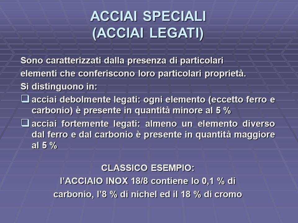 ACCIAI SPECIALI (ACCIAI LEGATI)